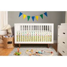 Non Convertible Cribs Baby Mod Marley 3 In 1 Convertible Crib White And Walnut Walmart