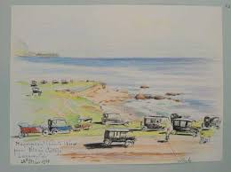 beaches watercolors and sketches by eva fenyes u2022 pasadena museum