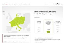 Central Europe Map by Download Central Europe Maps For A Fiat 500e 2016 Usa Uconnect