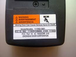 Overhead Door Corporation Parts Backyards Overhead Door Parts 380freqtransmitter