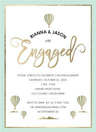 is in the air real foil engagement invitations