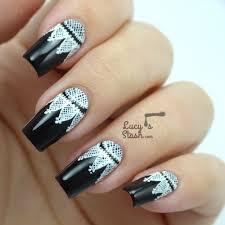 goth lace nail art feat cnd dark dahlia lucy u0027s stash