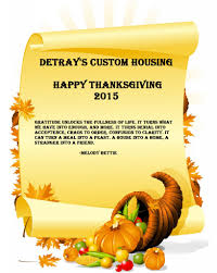 happy thanksgiving detray s custom housing