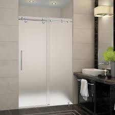 Cardinal Shower Door by Aston Langham 60 In X 75 In Completely Frameless Sliding Shower