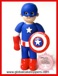 captain america cake topper handcrafted and personalised cake topper gallery