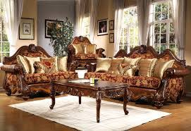 Wood And Leather Sofa Traditional Living Room Furniture Gold Leather Sofa And Wood Table