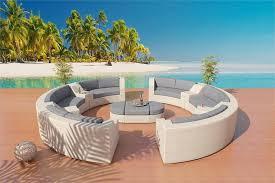 white round patio table sofa sectional patio furniture set 6