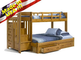 3 Way Bunk Bed Roundhill Furniture Stina Solid Wood Reversible Stair Way Bunk Bed