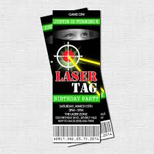 laser x target black friday laser tag ticket invitations lazer tag birthday party printable