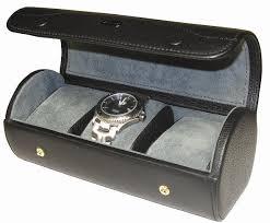 watch travel case images Triple watch storage case travel case in black leather 52 95 jpg