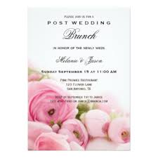 after wedding brunch invitations post wedding brunch invitations announcements zazzle