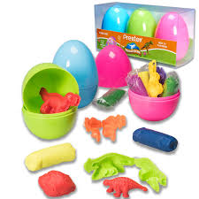 filled easter eggs prextex jumbo 4 easter eggs filled with clay dough and