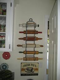 my bff marsha u0027s antique rolling pin holder which i covet home