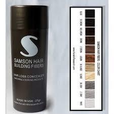 buy white color samson best hair loss concealer building fibers