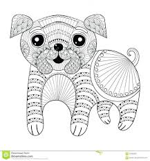 pug coloring book pages puppy colouring pics dog cartoon printable