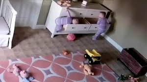 Baby Falling Off Bed Caught On Camera Dresser Falls On Twin Boys One Toddler Saves