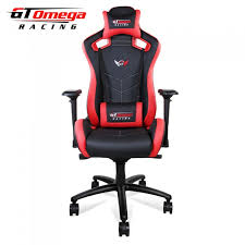 Red Leather Office Chair Gt Omega Sport Racing Office Chair Black And Red Leather