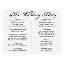 Wedding Reception Programs Wedding Reception Program Gifts T Shirts Art Posters U0026 Other