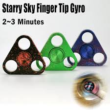 boxer dog fidget spinner starry sky colorful triangle alloy fingertip gyroscope fidget hand