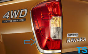 nissan frontier np300 accessories chrome line tail light lamp cover for nissan navara frontier np300