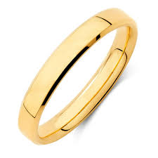 gold band band in 18ct yellow gold