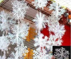 3psc bag wholesale white snowflake ornaments