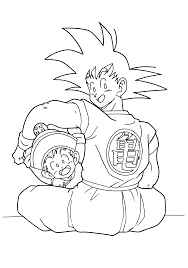 dragon ball z goku and gohan dragon ball z coloring pages