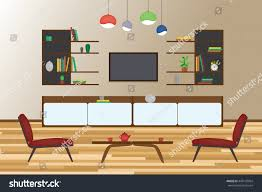 home interior flat vector design living stock vector 449133064