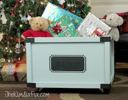 Homemade Wooden Toy Box by Easy Rolling Toy Box With A Chalkboard Label The Kim Six Fix
