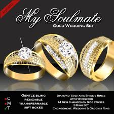 soulmate wedding ring second marketplace exquisite my soulmate wedding set gold