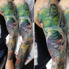 marvel tattoo sleeve marvel sleeve sleeve tattoos pinterest