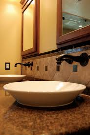 wall mount vessel sink faucets detail look of wall mounted faucets vessel sinks and intricate