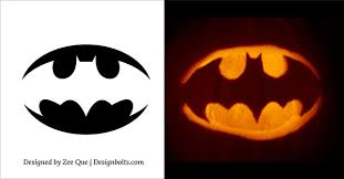5 easy simple halloween pumpkin carving patterns stencils