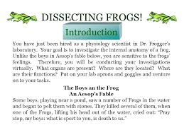 dissecting frogs a webquest for grade 8 biology ppt download