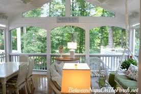 how to hang curtains or sheers on a screened porch