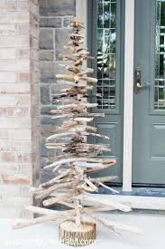 diy rustic driftwood evergreen christmas tree a beautiful and