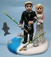 fishing wedding cake toppers fishing and groom wedding cake topper the wedding