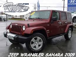 jeep wrangler maroon used 2009 jeep wrangler unlimited sahara 4 portes to sale for 21