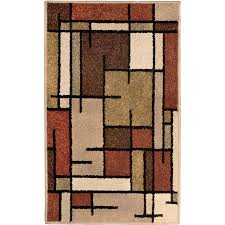 Lowes Throw Rugs Shop Allen Roth Addington Brown Rectangular Indoor Machine Made