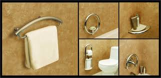 designer grab bars for bathrooms decorative and unique grab bars for bathroom safety bridgeway