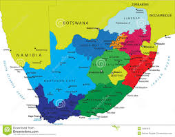 Map Of Cape Town South Africa by Political Map Of South Africa Royalty Free Stock Images Image