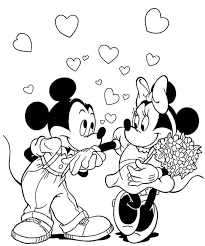 mickey love minnie coloring color pages mice