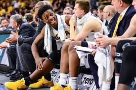 44 days until iowa hawkeyes basketball black heart gold pants
