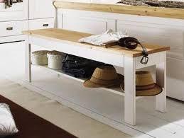 Bettbank Schlafzimmer Flurbank Mit Ablage Bettbank Sitzbank Weiß Gelaugt Holz Kiefer Neapel