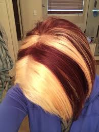 blonde hair with chunky highlights blonde hair with chunky red highlights hairs picture gallery