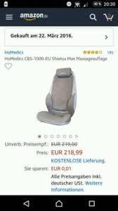si e de homedics massageauflage homedics shiatsu max in hamburg bergedorf ebay