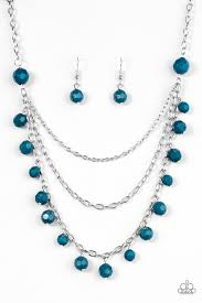 blue necklace images Blue paparazzi accessories jewelry jpg