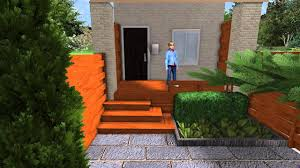 3d contemporary front yard landscape makeover walkthrough movie