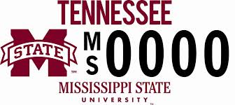 msu alumni license plate frame mississippi state development and alumni msu car tag