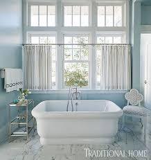 Half Window Curtains 3 Bathroom Window Treatment Types And 23 Ideas Shelterness